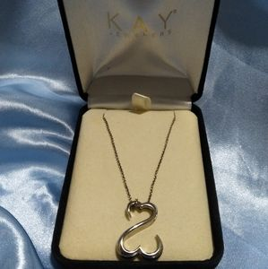 Open Hearts Sterling Silver Pendant Necklace